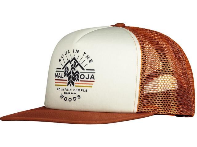 Maloja WalderdbeerM. Trucker Cap, pomarańczowy/biały